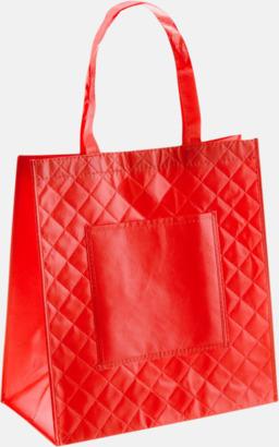 Röd Väska i laminerad non-woven med reklamtryck