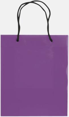 Transparent Lila (medium) Butikskassar i 2 storlekar med reklamtryck