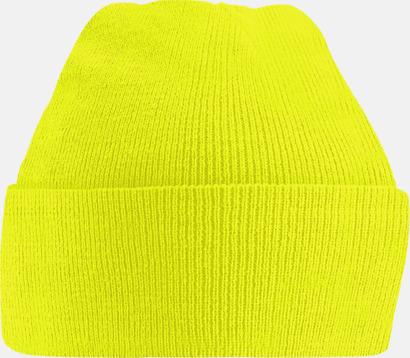 Fluorescent Yellow Färgglada beaniemössor för barn