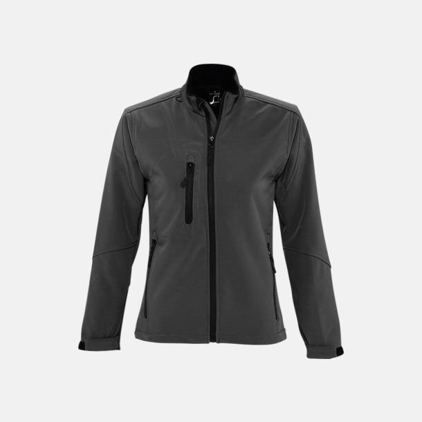 Charcoal Grey solid (dam) Softshell jackor i herr- & dammodell med reklamtryck
