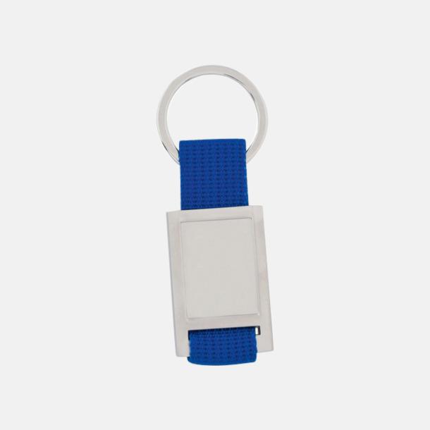 Silver / Blå Nyckelringar som kan domningtryckas
