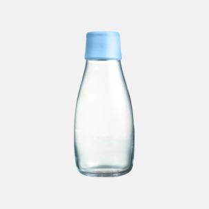 Mindre vattenflaskor av glas med reklamtryck
