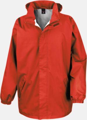 Röd Kvalitetsjackor i unisexmodell med reklamtryck