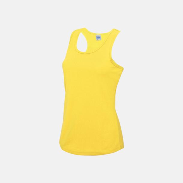 Sun Yellow (dam) Enfärgade funktionslinnen i unisex-, dam & barnmodell med reklamtryck