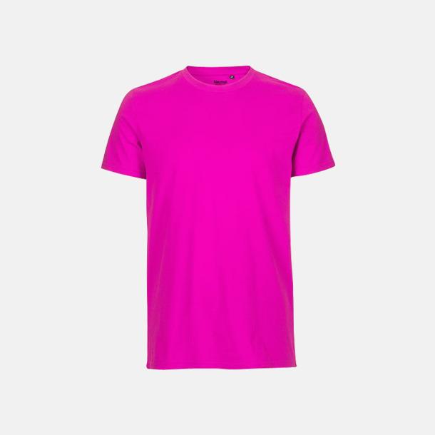 Rosa (herr) Fitted t-shirts i ekologisk fairtrade-bomull med tryck