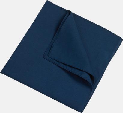 Marinblå (scarf) Bandanas i två varianter med reklambrodyr