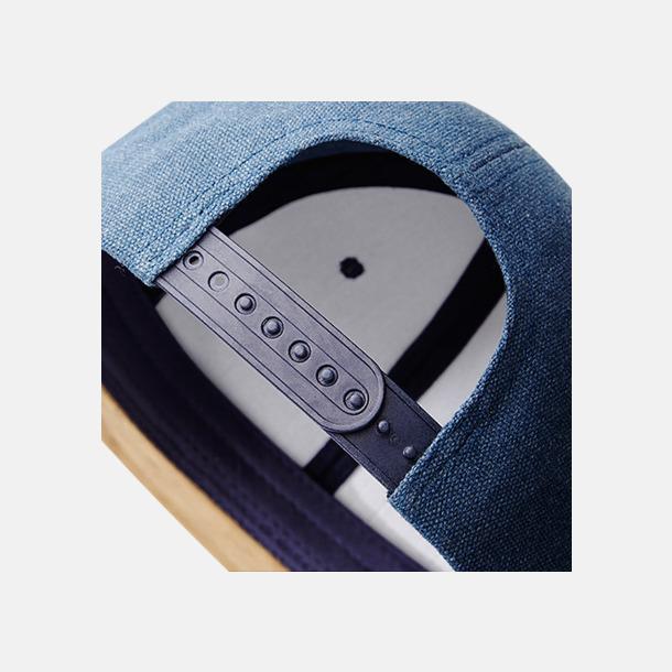 Jeanskepsar med mockaskärm - med reklambrodyr