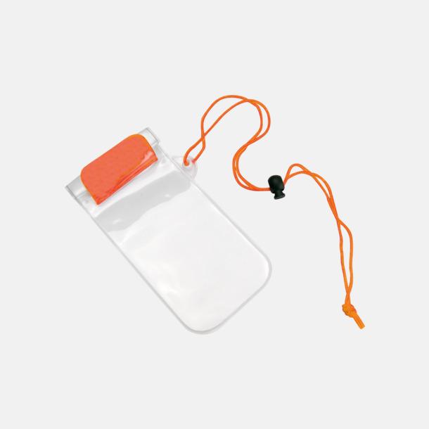 Orange / Transparent Billiga, vattenavvisande mobilfodral med tryck