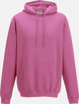 Candyfloss Pink Billiga collegetröjor i unisexmodell - med tryck