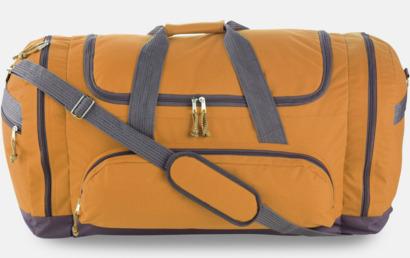 Orange / Grå Sportväska med eget tryck