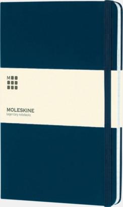 Prussian Blue (squared) Moleskines stora anteckningsböcker med linjerade eller rutade sidor - med reklamtryck