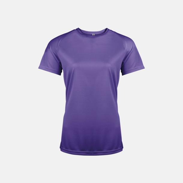 Violet Sport t-shirts i många färger för damer - med reklamtryck