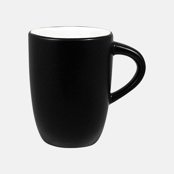 Svart/vit Kaffemuggar med tryck