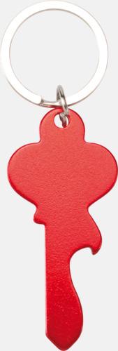 Röd (nyckel) Figurformade öppnare och nyckelringar med lasergravyr