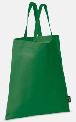 Grön (korta handtag) Billiga kassar med korta eller långa handtag - med reklamtryck