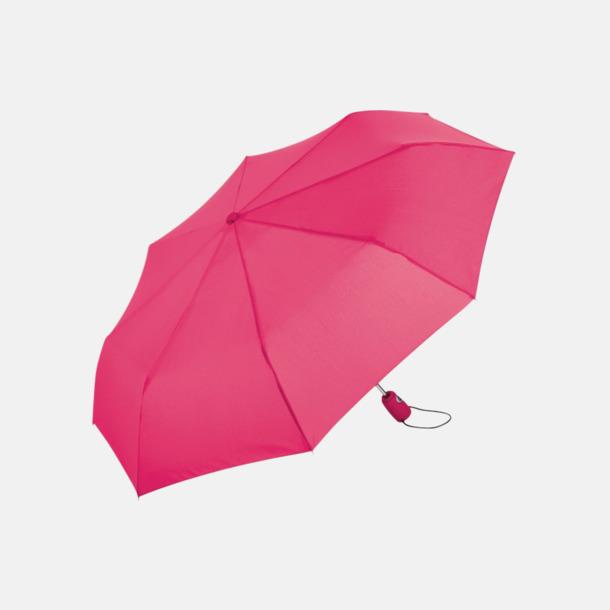 Magenta Kompakta paraplyer med eget reklamtryck
