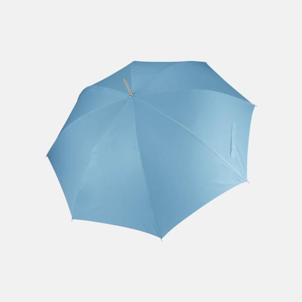 Sky Blue Tvåfärgade golfparaplyer med reklamtryck