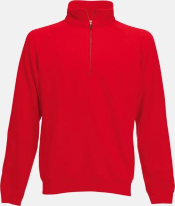 Röd Sweatshirt med tryck