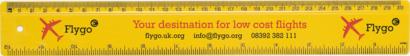 Gul 30 cm-linjaler i många färger med reklamtryck