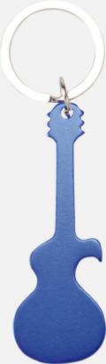 Blå (gitarr) Figurformade öppnare och nyckelringar med lasergravyr