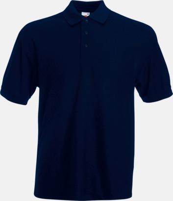 Deep Navy Pikétröjor med reklamtryck eller brodyr
