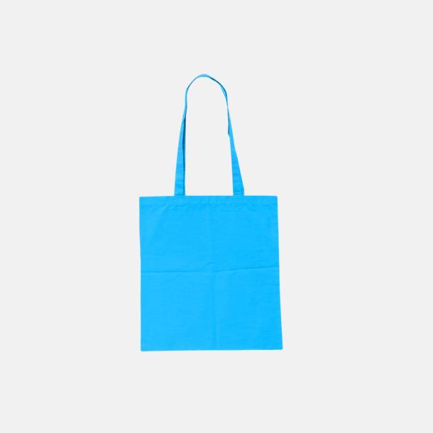 Ljusblå (pms 306U) Billiga tygkassar med tryck
