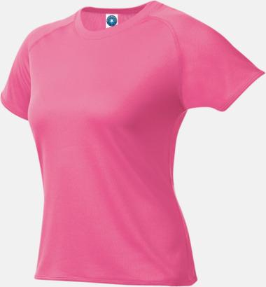 Floucerande Rosa (dam) Funktions t-shirts i herr- & dammodell med reklamtryck