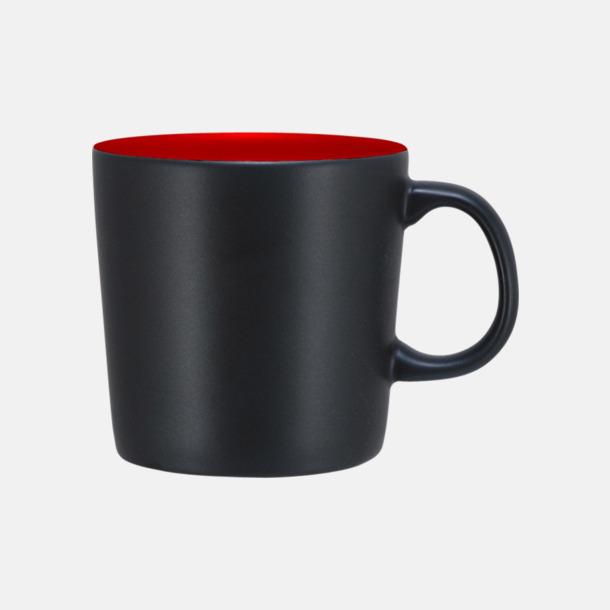 Svart/Röd (matt) Koppar med reklamtryck