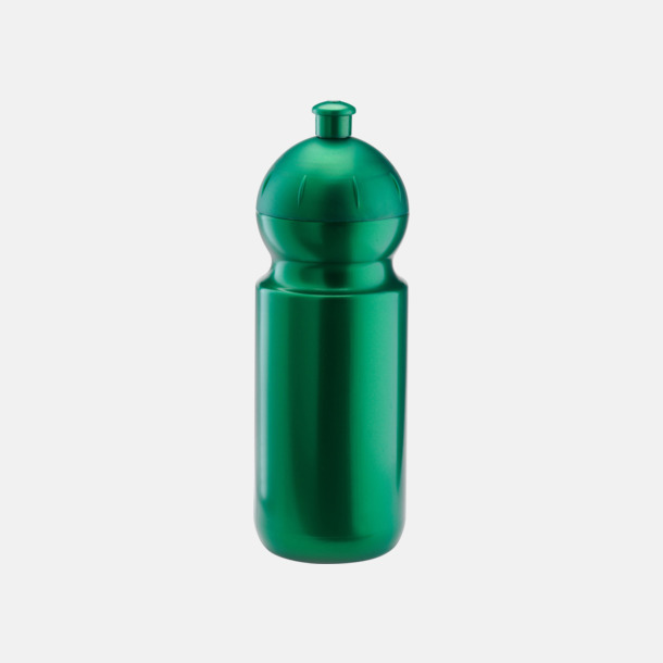 Metallic grön (500 ml) Bulb-vattenflaskor i 4 storlekar med digitaltryck