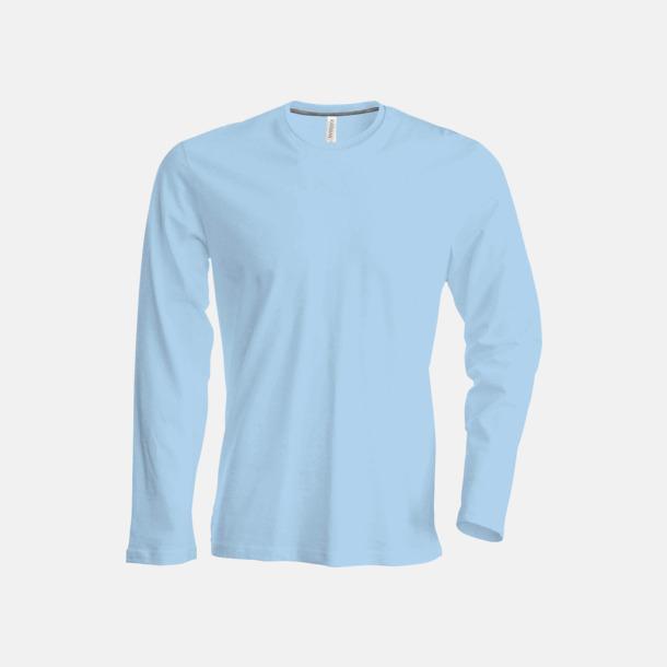 Sky Blue (crewneck, herr) Långärmad t-tröja med rundhals för herr och dam med reklamtryck
