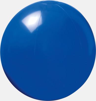 Blå Lite större, enfärgade badbollar med reklamtryck