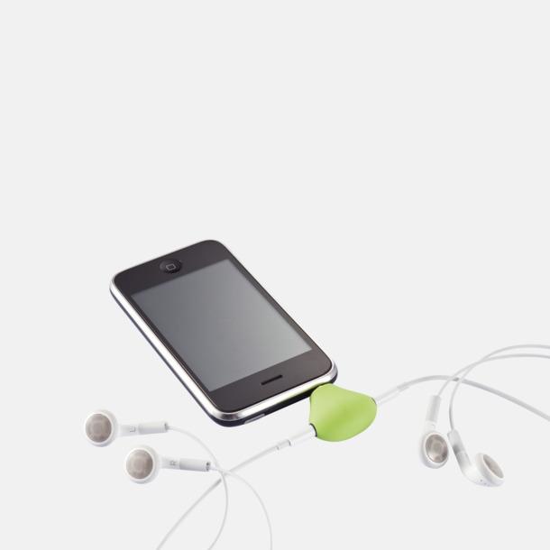 Ställ och audio splitter med eget reklamtryck