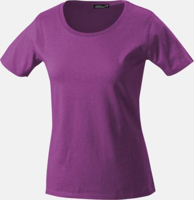Purple T-shirtar av kvalitetsbomull med eget tryck