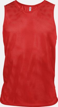 Sporty Red Lagvästar i många fluorescerande färger med reklamtryck