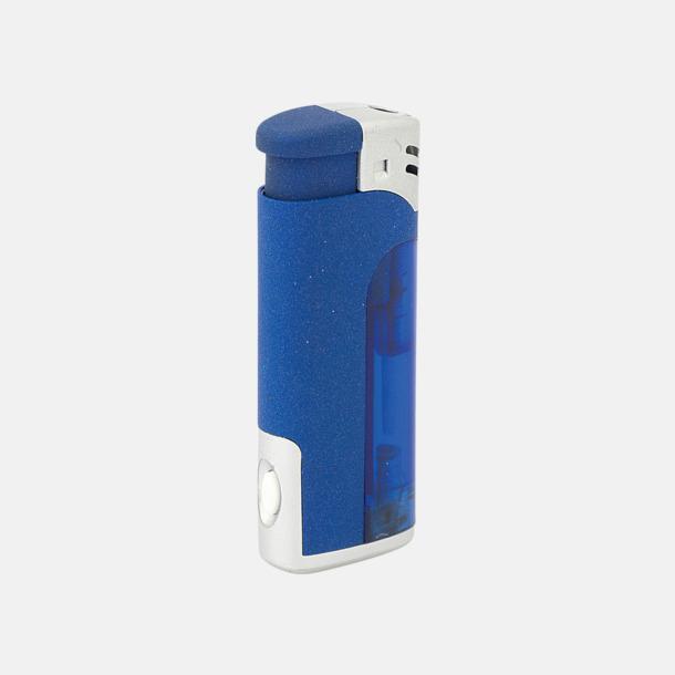 Blå Tändare och ficklampa i 1 - med reklamtryck