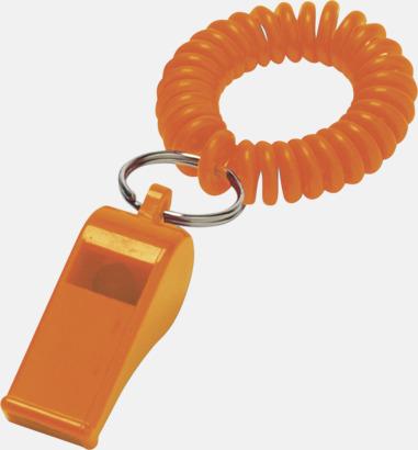 Orange Sport- och lekvisselpipor med reklamtryck