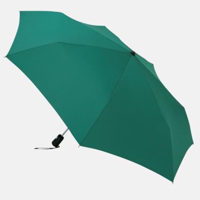 Mörkgrön Basildon Kompakt - Paraplyer Med tryck