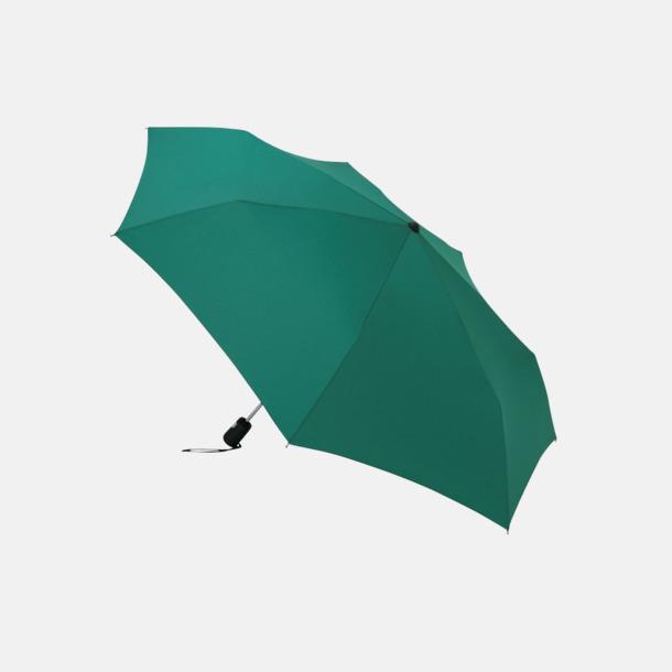 Mörkgrön Basildon kompakt - små paraplyer med reklamtryck