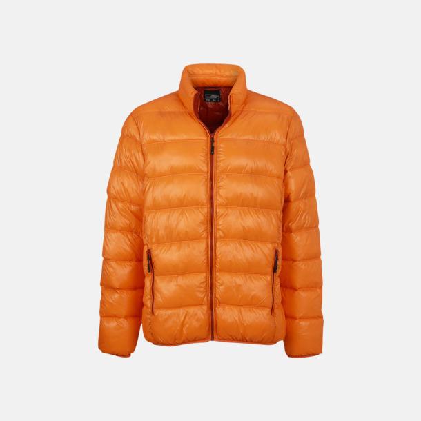 Orange/Rust (herr) Herr- och damdunjackor med tryck