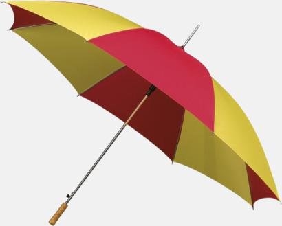 Randigt paraply med ergonomiskt trähandtag