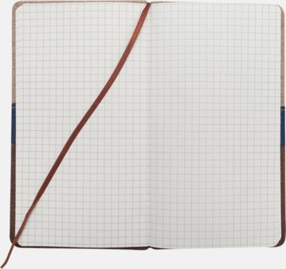 Anteckningsböcker med linomslag - med reklamtryck