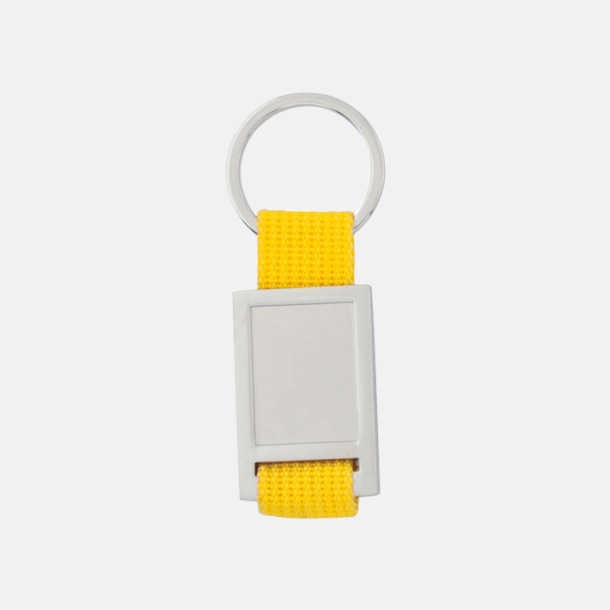 Silver / Gul Nyckelringar som kan domningtryckas