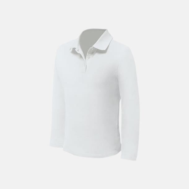 Vit (herr) Långärmade pikétröjor till lägre priser med reklamtryck