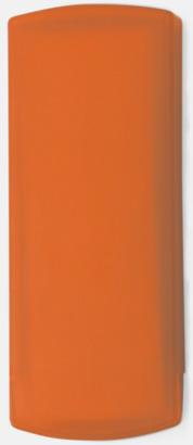 Orange Plåsterask med reklamtryck