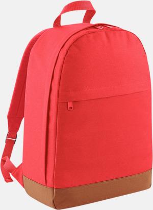 Coral/Tan Ryggsäckar i retrostil med reklamtryck