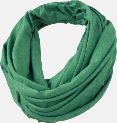 Grön Melange Tubrunda sommarscarfs med reklamlogo
