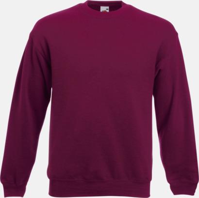 Burgundy Klassisk sweatshirt med reklamtryck