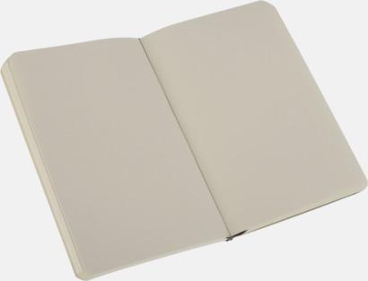 Plain (blank) Moleskines mjuka anteckningsböcker i mindre format - med reklamtryck