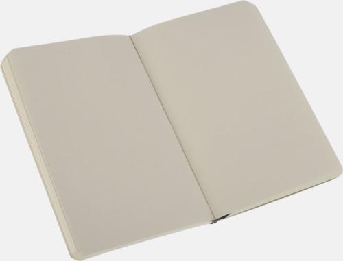Plain (blank) Moleskines mjuka anteckningsböcker i mindre format (ca A6) - med reklamtryck
