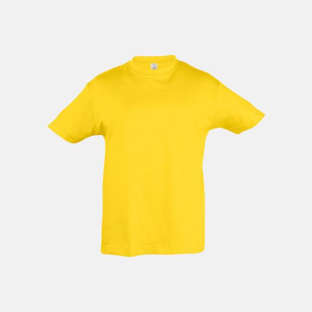 Gold Billig barn t-shirts i rmånga färger med reklamtryck